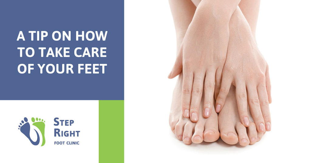 At tip on taking care of your feet.